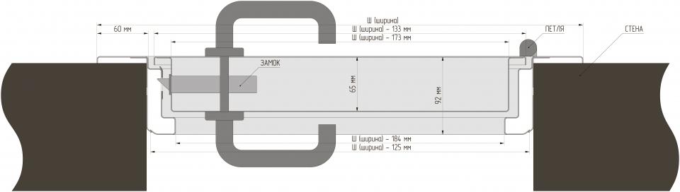 Противопожарная дверь (Алкрафт) схема установки