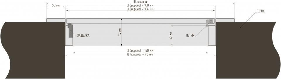 Металлическая дверца (Алкрафт) схема установки